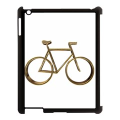 Elegant Gold Look Bicycle Cycling  Apple Ipad 3/4 Case (black) by yoursparklingshop