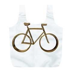 Elegant Gold Look Bicycle Cycling  Full Print Recycle Bags (l)  by yoursparklingshop