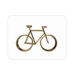 Elegant Gold Look Bicycle Cycling  Double Sided Flano Blanket (mini)  by yoursparklingshop