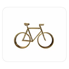 Elegant Gold Look Bicycle Cycling  Double Sided Flano Blanket (small)  by yoursparklingshop