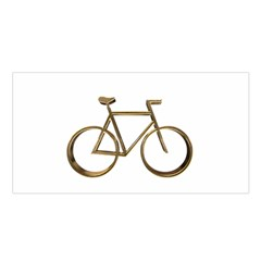 Elegant Gold Look Bicycle Cycling  Satin Shawl by yoursparklingshop