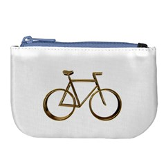 Elegant Gold Look Bicycle Cycling  Large Coin Purse by yoursparklingshop