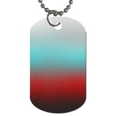Frosted Blue And Red Dog Tag (one Side) by theunrulyartist