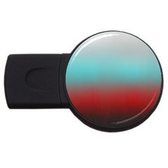 Frosted Blue And Red Usb Flash Drive Round (2 Gb) by theunrulyartist