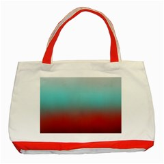 Frosted Blue And Red Classic Tote Bag (red) by theunrulyartist