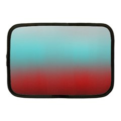 Frosted Blue And Red Netbook Case (medium)  by theunrulyartist