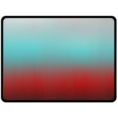 Frosted Blue And Red Double Sided Fleece Blanket (large)  by theunrulyartist