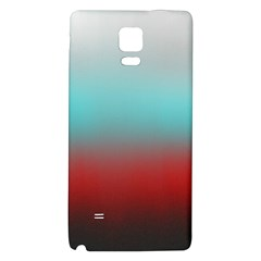 Frosted Blue And Red Galaxy Note 4 Back Case