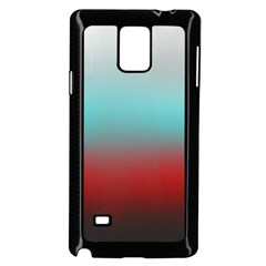 Frosted Blue And Red Samsung Galaxy Note 4 Case (black) by theunrulyartist