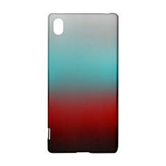 Frosted Blue And Red Sony Xperia Z3+ by theunrulyartist