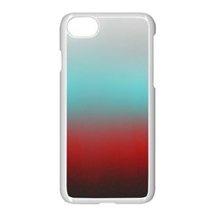 Frosted Blue And Red Apple Iphone 7 Seamless Case (white) by theunrulyartist