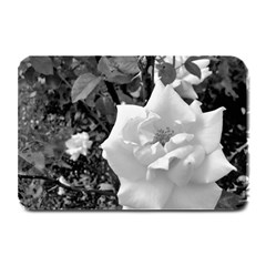 White Rose Black Back Ground Greenery ! Plate Mats by CreatedByMeVictoriaB