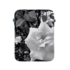 White Rose Black Back Ground Greenery ! Apple Ipad 2/3/4 Protective Soft Cases by CreatedByMeVictoriaB