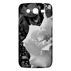 White Rose Black Back Ground Greenery ! Samsung Galaxy Mega 5 8 I9152 Hardshell Case  by CreatedByMeVictoriaB