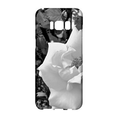 White Rose Black Back Ground Greenery ! Samsung Galaxy S8 Hardshell Case  by CreatedByMeVictoriaB