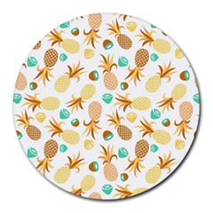Seamless Summer Fruits Pattern Round Mousepads by TastefulDesigns