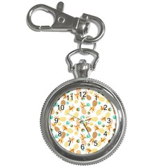 Seamless Summer Fruits Pattern Key Chain Watches by TastefulDesigns
