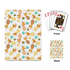 Seamless Summer Fruits Pattern Playing Card by TastefulDesigns
