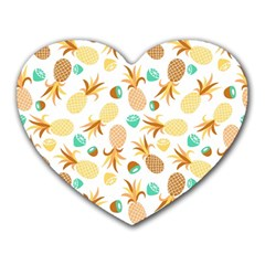 Seamless Summer Fruits Pattern Heart Mousepads by TastefulDesigns