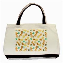 Seamless Summer Fruits Pattern Basic Tote Bag (two Sides) by TastefulDesigns