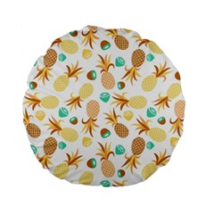 Seamless Summer Fruits Pattern Standard 15  Premium Round Cushions by TastefulDesigns