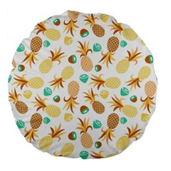 Seamless Summer Fruits Pattern Large 18  Premium Round Cushions by TastefulDesigns