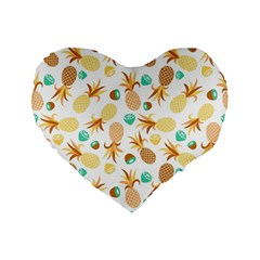 Seamless Summer Fruits Pattern Standard 16  Premium Heart Shape Cushions by TastefulDesigns