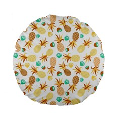 Seamless Summer Fruits Pattern Standard 15  Premium Flano Round Cushions by TastefulDesigns