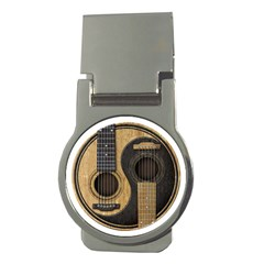 Old And Worn Acoustic Guitars Yin Yang Money Clips (round)  by JeffBartels