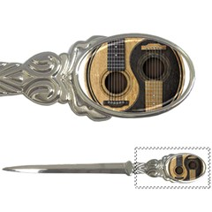 Old And Worn Acoustic Guitars Yin Yang Letter Openers by JeffBartels