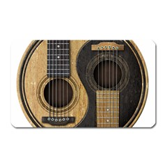 Old And Worn Acoustic Guitars Yin Yang Magnet (rectangular) by JeffBartels