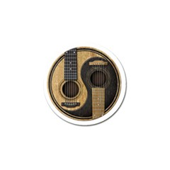 Old And Worn Acoustic Guitars Yin Yang Golf Ball Marker by JeffBartels