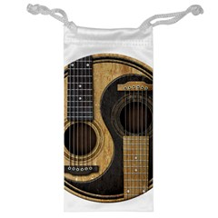 Old And Worn Acoustic Guitars Yin Yang Jewelry Bag by JeffBartels