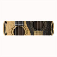 Old And Worn Acoustic Guitars Yin Yang Large Bar Mats by JeffBartels