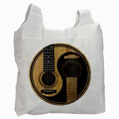 Old And Worn Acoustic Guitars Yin Yang Recycle Bag (two Side)  by JeffBartels