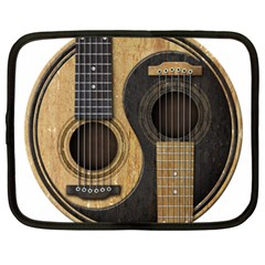 Old And Worn Acoustic Guitars Yin Yang Netbook Case (xxl)  by JeffBartels