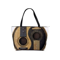 Old And Worn Acoustic Guitars Yin Yang Shoulder Handbags by JeffBartels