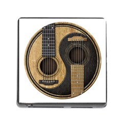 Old And Worn Acoustic Guitars Yin Yang Memory Card Reader (square) by JeffBartels