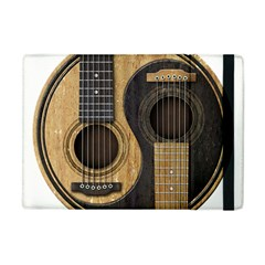 Old And Worn Acoustic Guitars Yin Yang Apple Ipad Mini Flip Case by JeffBartels