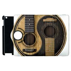 Old And Worn Acoustic Guitars Yin Yang Apple Ipad 2 Flip 360 Case by JeffBartels