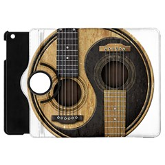 Old And Worn Acoustic Guitars Yin Yang Apple Ipad Mini Flip 360 Case by JeffBartels