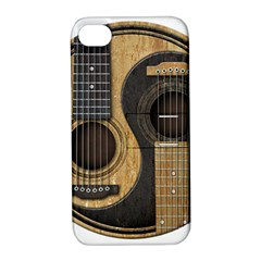 Old And Worn Acoustic Guitars Yin Yang Apple Iphone 4/4s Hardshell Case With Stand by JeffBartels