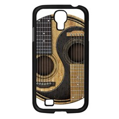 Old And Worn Acoustic Guitars Yin Yang Samsung Galaxy S4 I9500/ I9505 Case (black) by JeffBartels