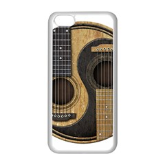 Old And Worn Acoustic Guitars Yin Yang Apple Iphone 5c Seamless Case (white) by JeffBartels