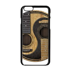 Old And Worn Acoustic Guitars Yin Yang Apple Iphone 6/6s Black Enamel Case by JeffBartels