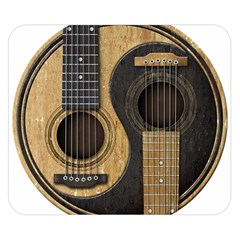 Old And Worn Acoustic Guitars Yin Yang Double Sided Flano Blanket (small)  by JeffBartels