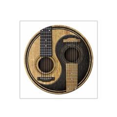 Old And Worn Acoustic Guitars Yin Yang Satin Bandana Scarf by JeffBartels