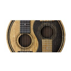 Old And Worn Acoustic Guitars Yin Yang Satin Wrap by JeffBartels