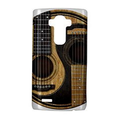 Old And Worn Acoustic Guitars Yin Yang Lg G4 Hardshell Case by JeffBartels
