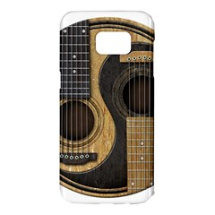 Old And Worn Acoustic Guitars Yin Yang Samsung Galaxy S7 Edge Hardshell Case